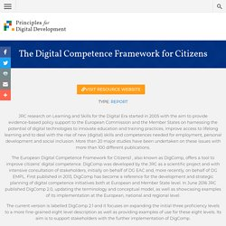 The Digital Competence Framework for Citizens