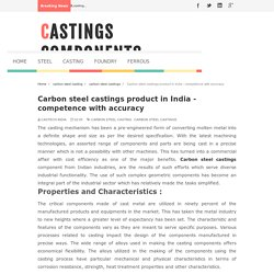 Carbon steel castings for general application