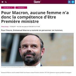 Macron aurait aimé une femme Première ministre, mais bon il a choisi un homme quand même