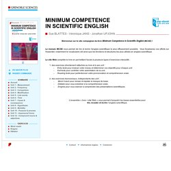 minimum technical english