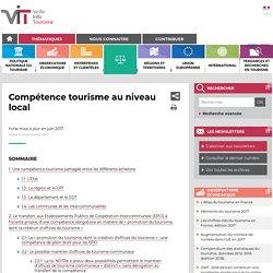 """La """"compétence tourisme"""" au niveau local en France"""