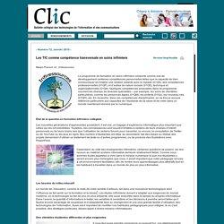 Les TIC comme compétence transversale en soins infirmiers