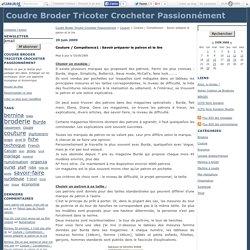 Couture / Compétence1 : Savoir préparer le patron et le lire - Coudre Broder Tricoter Crocheter Passionnément