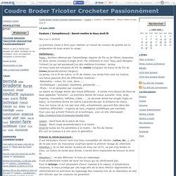 Couture / Compétence2 : Savoir mettre le tissu droit fil - Coudre Broder Tricoter Crocheter Passionnément