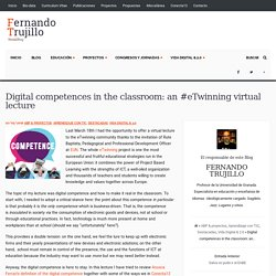 Digital competences in the classroom: an #eTwinning virtual lecture