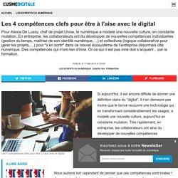 Les 4 compétences clefs pour être à l'aise avec le digital