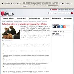 La gestion des compétences: quelques définitions