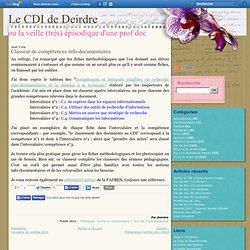 Classeur de compétences info-documentaires - Le blog de Deirdre