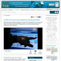 L'Agence nationale des Usages des TICE - Le Web 2.0 au service des compétences info-documentaires