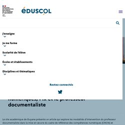 Le cadre de référence des compétences numériques, Pix et le professeur docume...