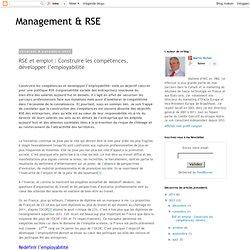 RSE et emploi : Construire les compétences, développer l'employabilité