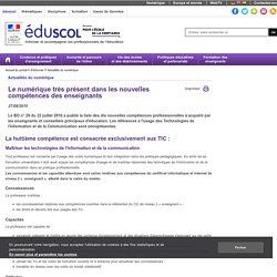 Actualités du numérique - Le numérique très présent dans les nouvelles compétences des enseignants