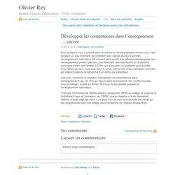 Rey · Développer les compétences dans l'enseignement … encore