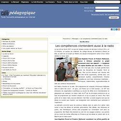 Les compétences s'entendent aussi à la radio - Forum2012