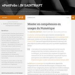 Monter en compétences en usages du Numérique – ePortFolio