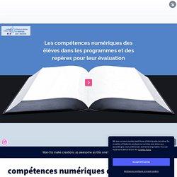 compétences numériques dans les programmes par fabienjoubert19 sur Genially