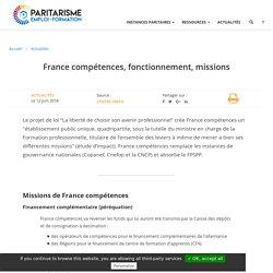 France compétences, fonctionnement, missions
