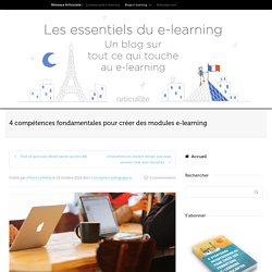 4 compétences e-learning fondamentales