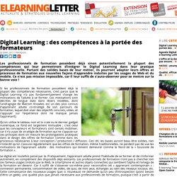 Digital Learning : des compétences à la portée des formateurs