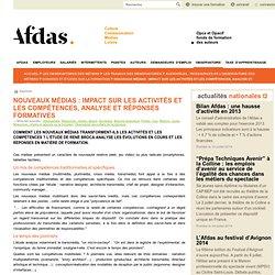 Nouveaux médias : impact sur les activités et les compétences, analyse et réponses formatives
