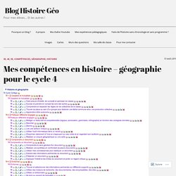 Mes compétences en histoire – géographie pour le cycle 4 – Blog Histoire Géo