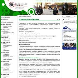 Travailler par compétences — Centre Saint Marc à Lyon - Collège Saint Louis de la Guillotière
