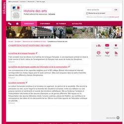 Compétences et histoire des arts-Histoire des arts-Éduscol