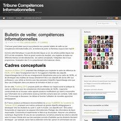 Bulletin de veille: compétences informationnelles