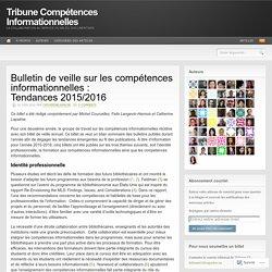 Bulletin de veille : Tendances 2015/2016