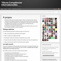 Tribune Compétences Informationnelles