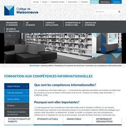 Formation aux compétences informationnelles - Collège de Maisonneuve