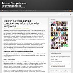 Bulletin de veille sur les compétences informationnelles: Intégration