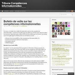 Bulletin de veille sur les compétences informationnelles