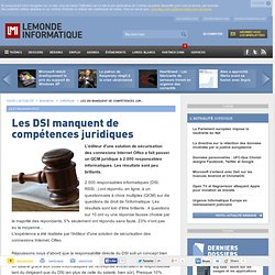 Les DSI manquent de compétences juridiques
