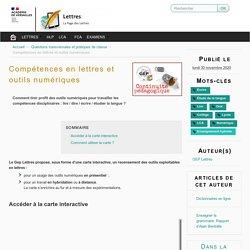 Compétences en lettres et outils numériques - Lettres