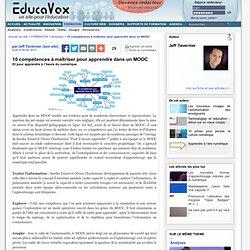10 compétences à maîtriser pour apprendre dans un MOOC