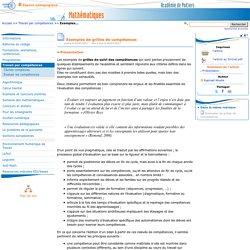 Exemples de grilles de compétences- Mathématiques