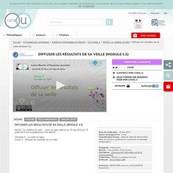 Diffuser les résultats de sa veille (Module 5.5) - Compétences numériques