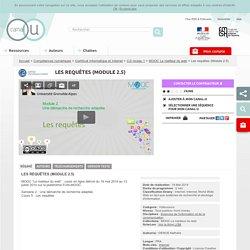 Les requêtes (Module 2.5) - Compétences numériques