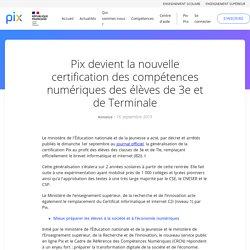 Pix - Cultivez vos compétences numériques