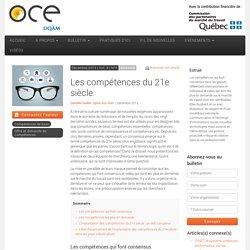 Les compétences du 21e siècle - OCE - L'Observatoire compétences-emplois