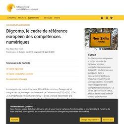 Digcomp, le cadre de référence européen des compétences numériques - L'Observatoire - OCE