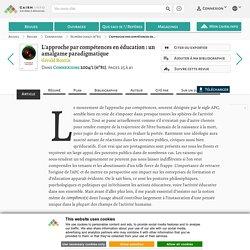L'approche par compétences en éducation: un amalgame paradigmatique