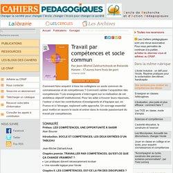 Fév. 2009 : Travail par compétences et socle commun (ouvrage JMZ)