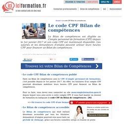 Bilan de compétences : le code CPF (Compte personnel de formation)
