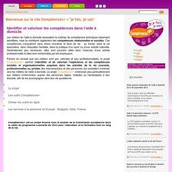 Identifier ses compétences Aide à domicile - Compétences +