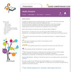 Guide Compétences clés - Présentation, mode d'emploi