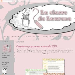 La maternelle de Laurène: Compétences programmes maternelle 2015