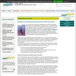 Equilibres numéro 114 -Développer les compétences psychosociales des enfants et des jeunes