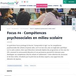 Compétences psychosociales en milieu scolaire